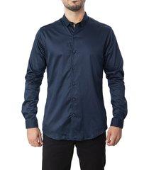 camisa frank pierce nautica c2022 azul