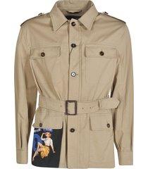 dolce & gabbana belted cargo jacket