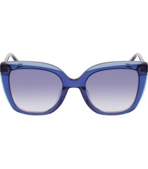 longchamp le pliage 53mm gradient rectangular sunglasses in blue/blue at nordstrom