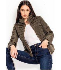 chaqueta para mujer en poliester color-cafe-talla-m