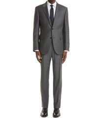 men's ermenegildo zegna trofeo plaid wool suit