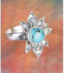 unique blue copper turquoise gemstone sterling silver ring all size bjr-444-bct