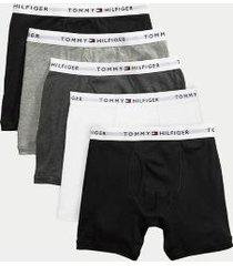 tommy hilfiger men's cotton classics boxer brief 5pk black pepper - xxl