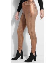 błyszczące jeansy fason skinny