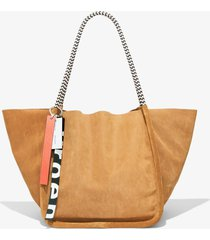 proenza schouler corduroy suede xl tote with rope handles desert/brown one size