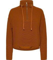 anorak sweat in structured quality sweat-shirt tröja brun scotch & soda