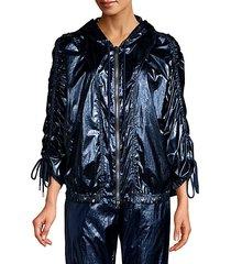 olympia metallic windbreaker jacket