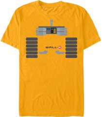 disney pixar men's wall-e body costume short sleeve t-shirt