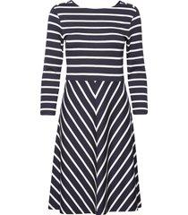 d1. striped dress jurk knielengte blauw gant