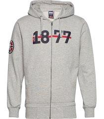 hh norse fz hoodie hoodie trui grijs helly hansen