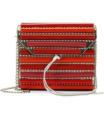 mini studded barrel crossbody bag