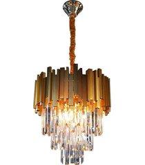 lustre cristal midas 4xw14 dourado - 89511130 - blumenau - blumenau