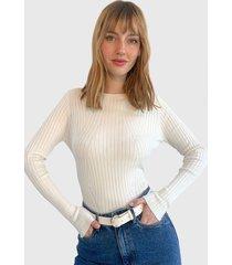 sweater only blanco - calce ajustado