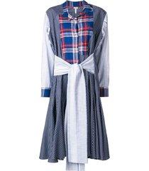 patchwork dress blue