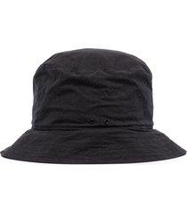 snow peak indigo c/n bucket hat - black