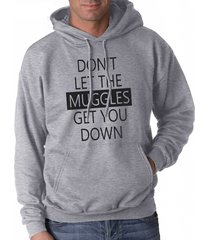 don't let muggles get you down unisex hoodie light steel / heather grey
