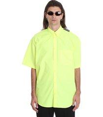 balenciaga shirt in yellow cotton