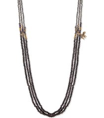 "lonna & lilly gold-tone black bead strand 36"" long necklace"