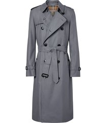 burberry chelsea heritage long trench coat - grey