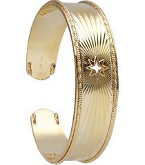 bracciale bangle rosa dei venti in bronzo dorato per donna