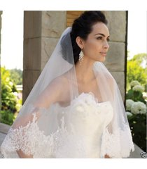 1.8 m two tiered lace beading edge long luxury wedding veil bridal veil