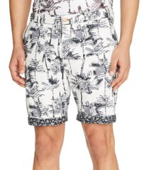"tallia men's slim-fit palm tree 9"" shorts"