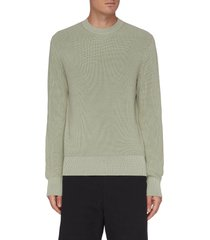 dexter' rib knit organic cotton sweater