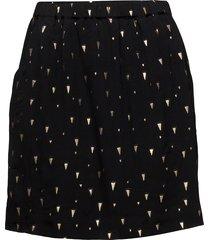 skirt w. foil print kort kjol svart coster copenhagen