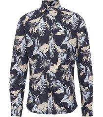 harrison spread collar shirt overhemd casual blauw morris