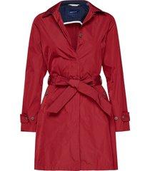 d1. memory mac coat trenchcoat lange jas rood gant