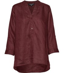 shirt blouse lange mouwen rood ilse jacobsen