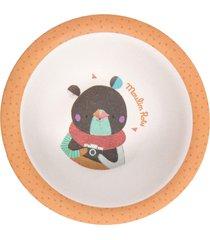 tigela bowl infantil em bambu moulin roty les jolis urso