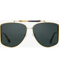 mk occhiali da sole nash - green/gold - michael kors