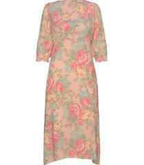 clement midi dress knälång klänning rosa faithfull the brand