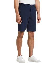 joseph abboud navy check seersucker modern fit shorts