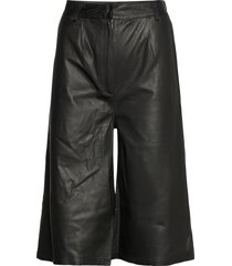 culotte leather trouser byxor svart mdk / munderingskompagniet