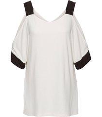 maglia con cut-out (bianco) - bodyflirt