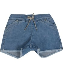 chloé drawstring denim shorts