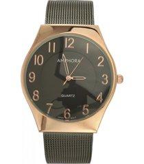 reloj negro amphora w072