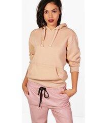 basic effen oversizede hoodie, kameel