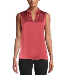 anne klein split-neck sleeveless top