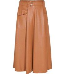 msgm belted flared skirt