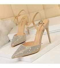 moda sandalias de punta estrecha para las mujeres sandalias mujer