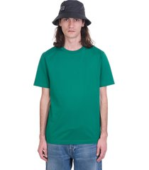 acne studios everest t-shirt in green cotton