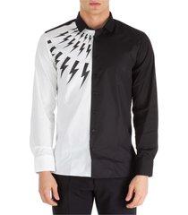 camicia uomo maniche lunghe half thunderbolt fair-isle