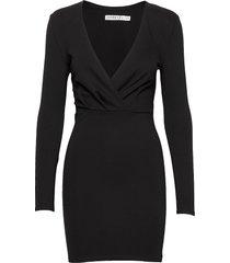 slim fit mini dress kort klänning svart ivyrevel