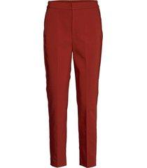 zellaiw flat pant pantalon met rechte pijpen rood inwear
