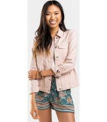 gianne button down jacket - blush