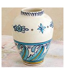 ceramic vase, 'bermuda waves' (guatemala)