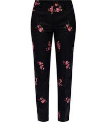 floral-geborduurd broek